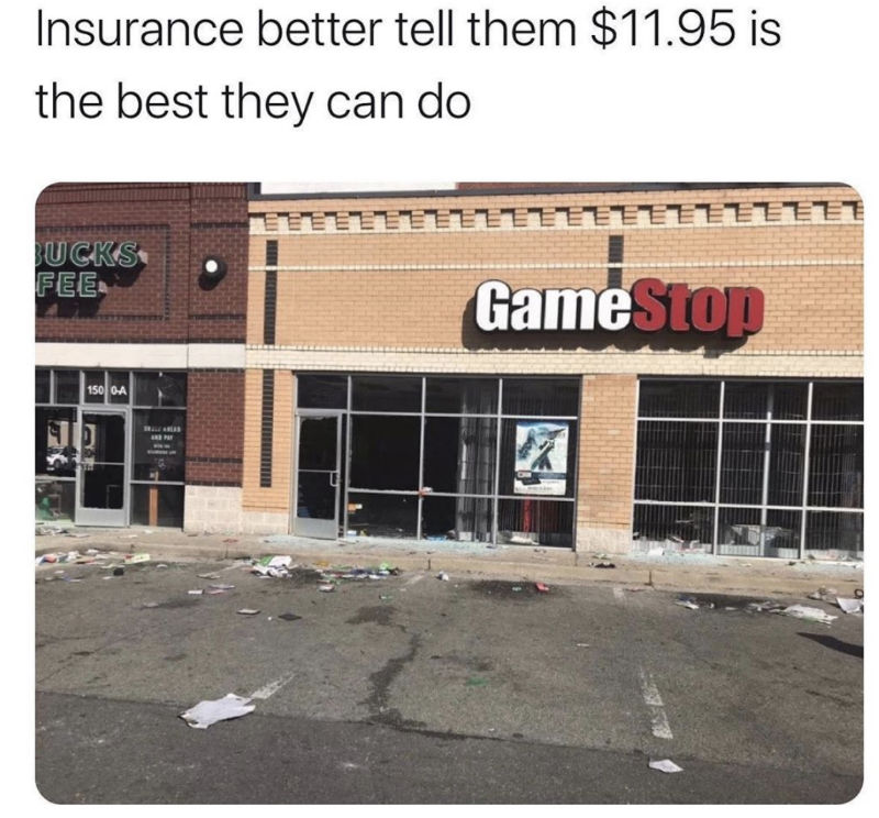 gamestop looted meme