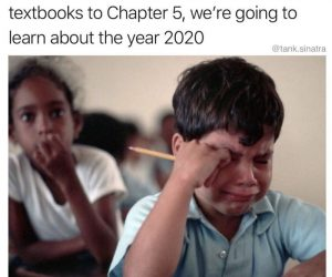 History Teacher In 2073 We're Going To Learn About The Year 2020 – Meme