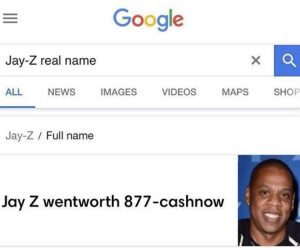 Jay-Z Real Name – Jay Z Wentworth 877 Cashnow Meme