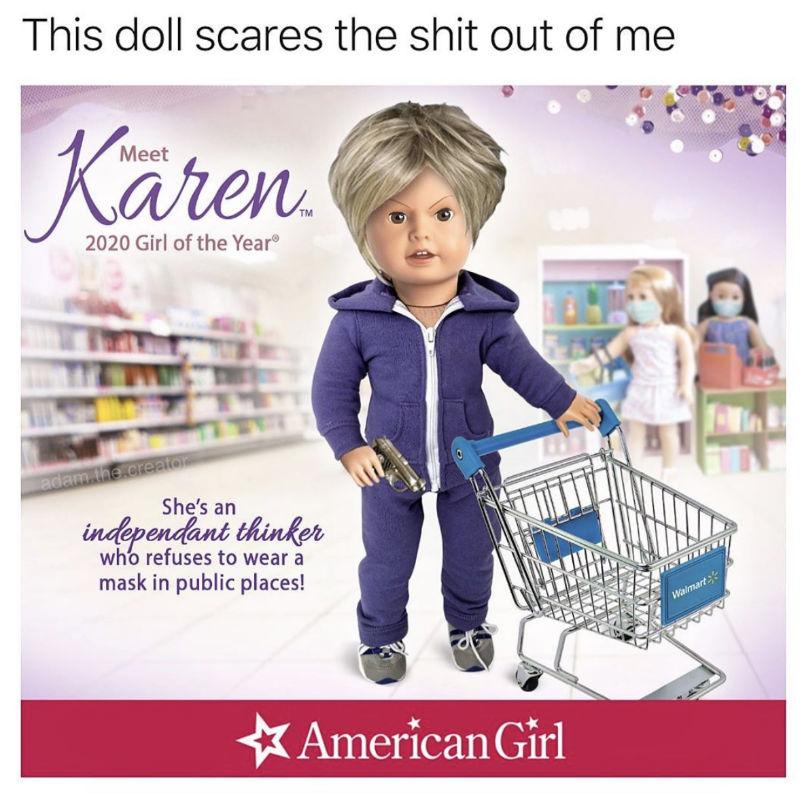 karen american girl doll meme