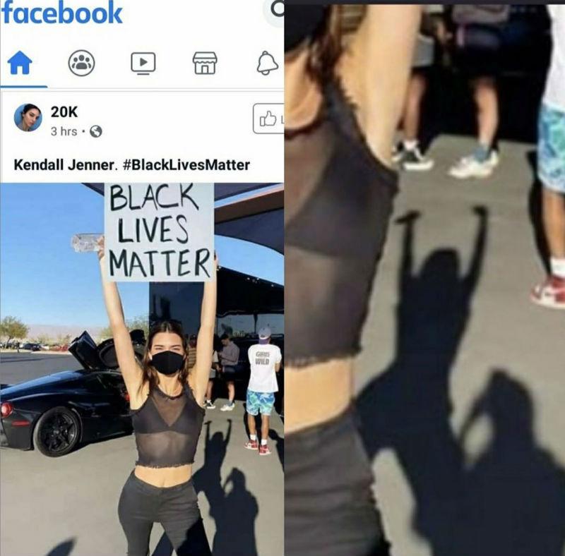 kendall jenner black lives matter sign