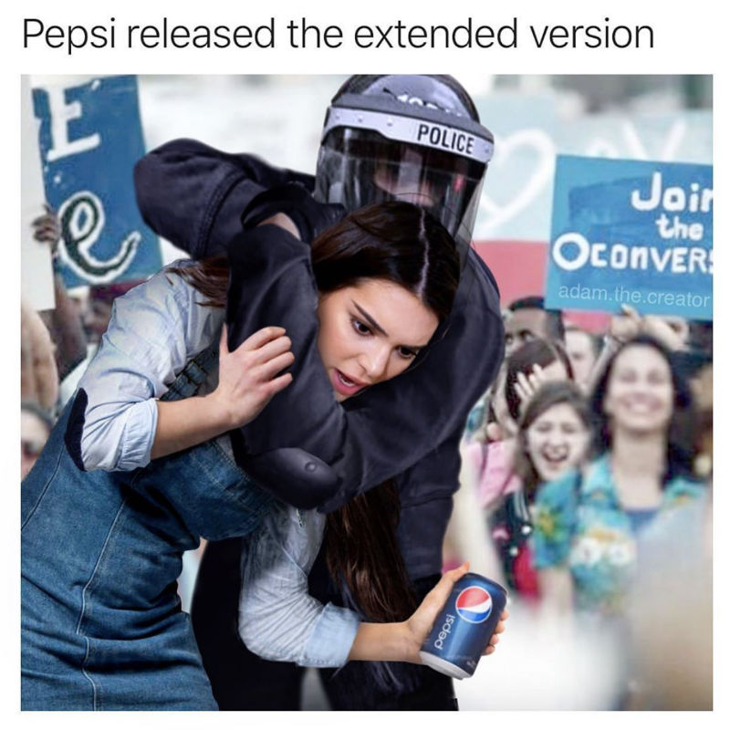 kendall jenner pepsi protest