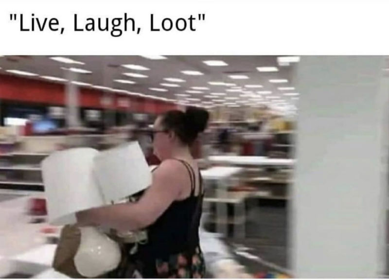 live laugh loot meme