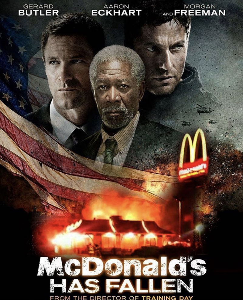 mcdonalds has fallen movie poster