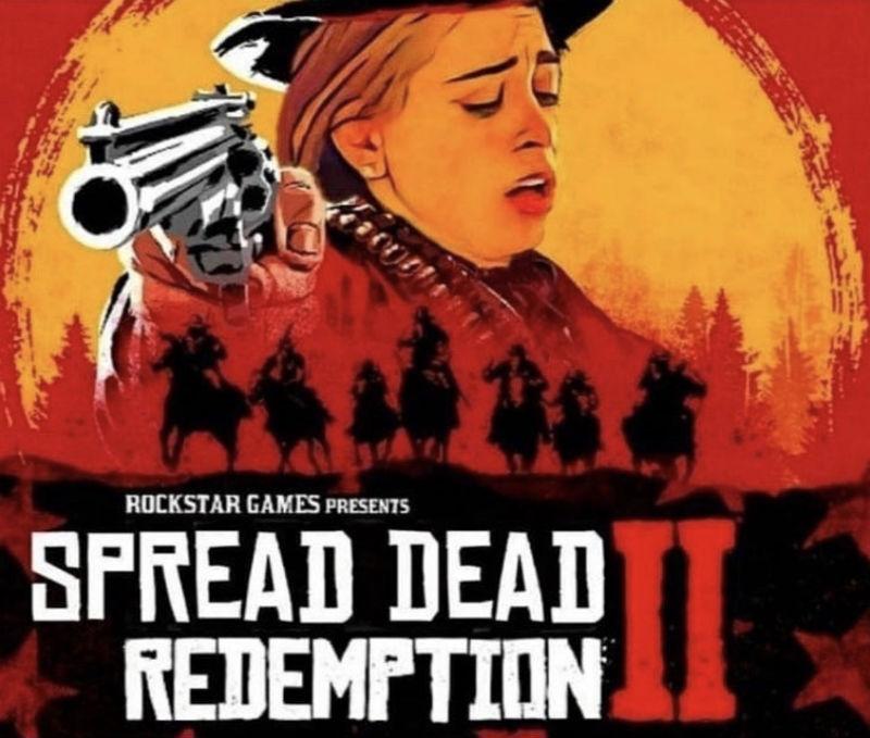 spread dead redemption meme