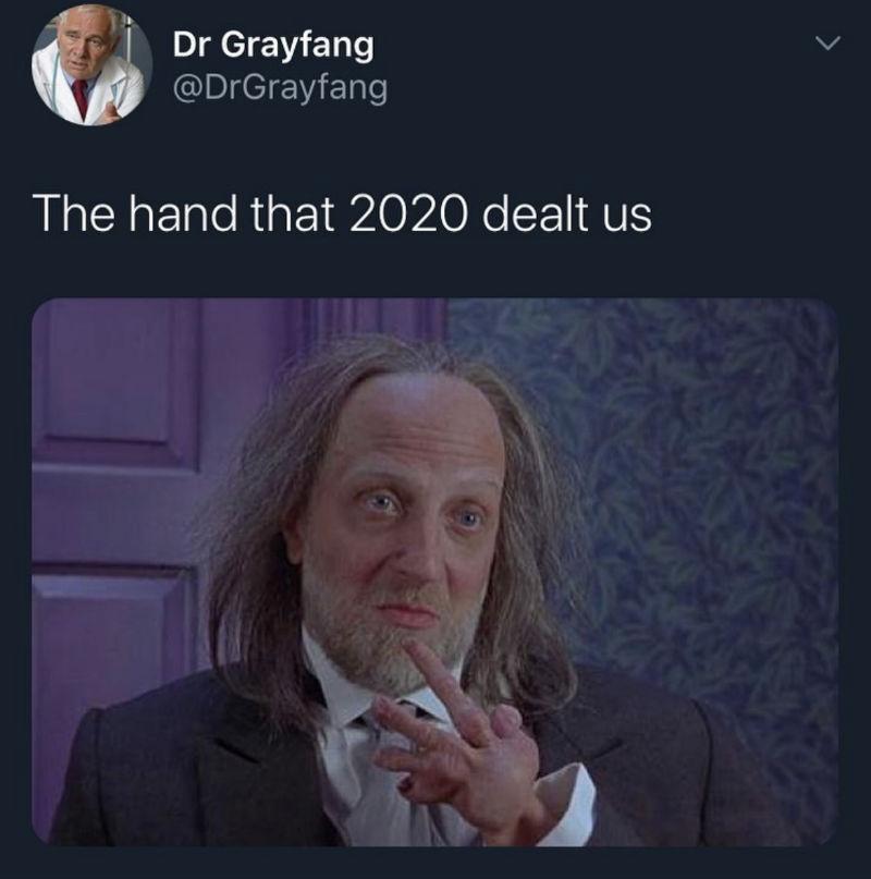 the hand 2020 dealt us