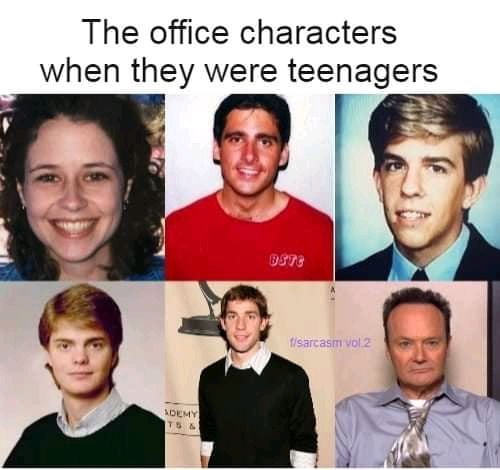 the office characters when they were teenagers