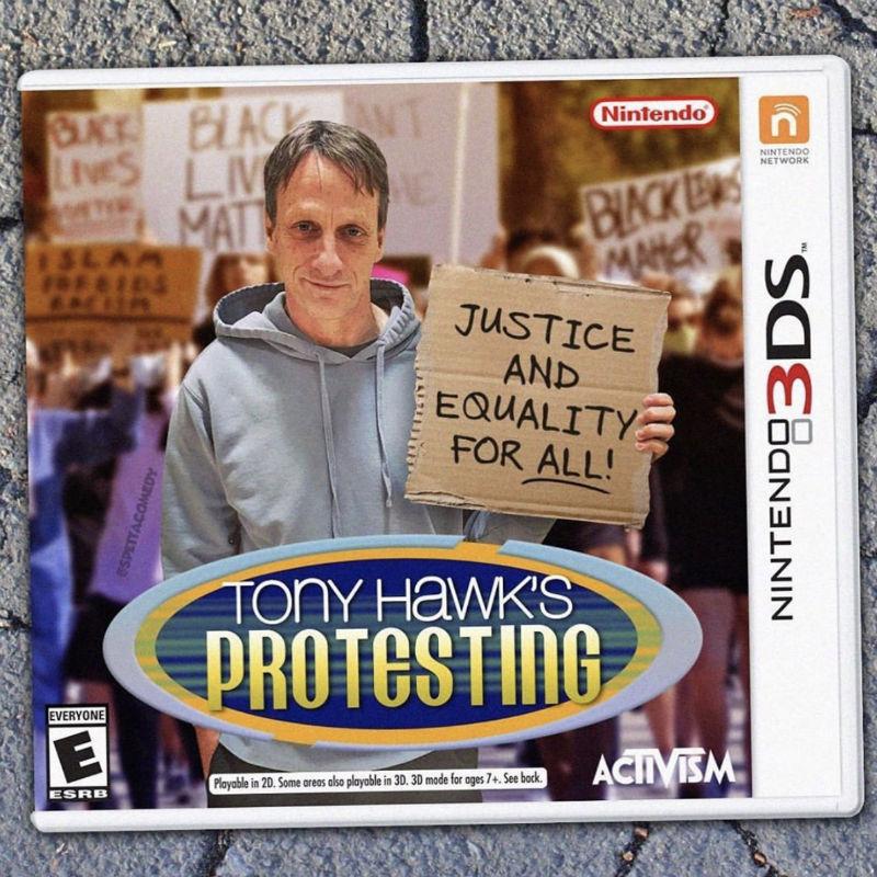 tony hawk protesting game
