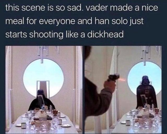 vader made a nice meal meme