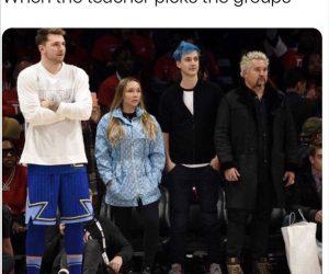 When The Teacher Picks The Groups – Meme