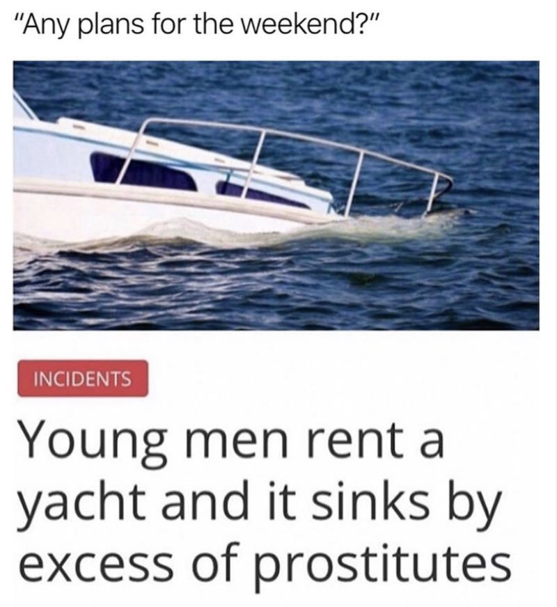 young men rent a yacht