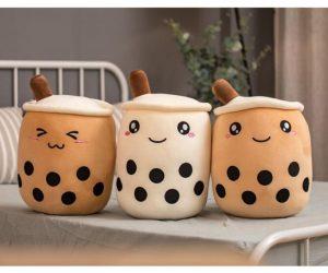 Bubble Boba Tea Cup Shaped Pillow Plush – This Bubble Boba Tea plush is perfect for milk tea lovers!