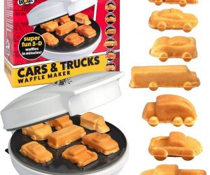 Cars & Trucks Waffle Maker – Feel free to play with your food with this Cars & Trucks Waffle Maker!