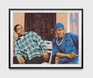 Damn Friday Inspired Movie Poster- This iconic, meme-worthy Ice Cube and Chris Tucker should be on your wall!