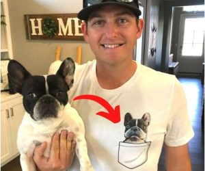 Personalized Dog Pocket T-Shirt – The most adorable shirt for fur parents!