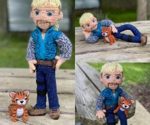"Joe ""Tiger King"" Crochet – The gun-toting, tiger tackling, mullet sporting, gay polygamist that we didn't know we needed, its the Joe Tiger King crochet!"