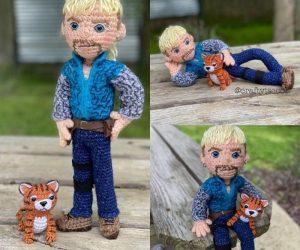 """Joe """"Tiger King"""" Crochet –The gun-toting, tiger tackling, mullet sporting, gay polygamist that we didn't know we needed, its the Joe Tiger King crochet!"""