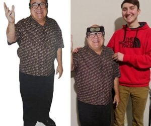 "Lifesize Danny Devito Cardboard Cutout – This pop up Danny Devito measures 4' 10"" tall, just like the legendary comedian himself!"