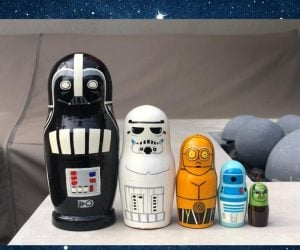 Star Wars Nesting Dolls – Beautiful Handmade and hand painted set of Star Wars characters!