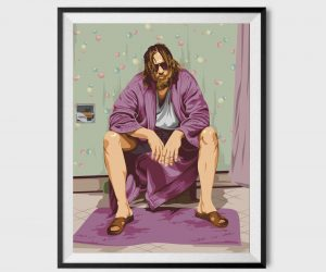 The Big Lebowski Inspired Bathroom Poster 11×17 – This bathroom poster is inspired by the Big Lebowski scene where he was waterboarded!