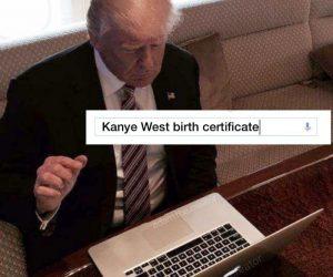 Kanye West Birth Certificate – Kanye Running For President 2020 Meme