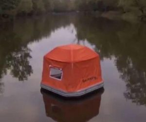 Smithfly Floating Tent – Sit in river, sleep in ocean, wake up in Hawaii!