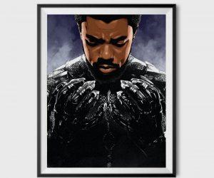 Chadwick Boseman & Black Panther Inspired Posters – Wakanda Forever!