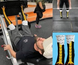 Chicken Legs Socks – Friends don't let friends skip leg day!