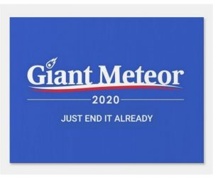 Giant Meteor 2020 Sign – Just end it already!