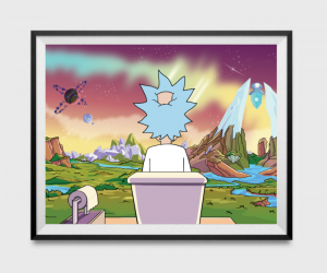 Rick and Morty Bathroom Poster –Nothing can beat the bliss of pooping it utter solitude. Just like our man Rick here.