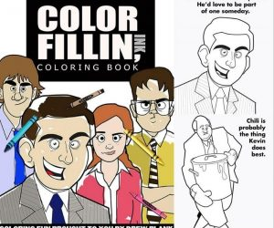 The Office Coloring Book – Someone created an Office themed adult coloring book!