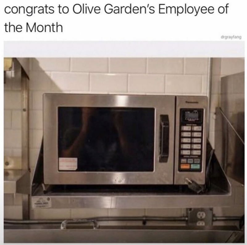 congrats to olive gardens employee of the month