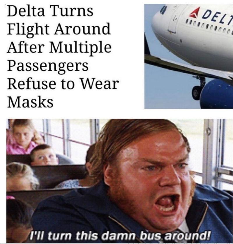 delta turns flight around meme