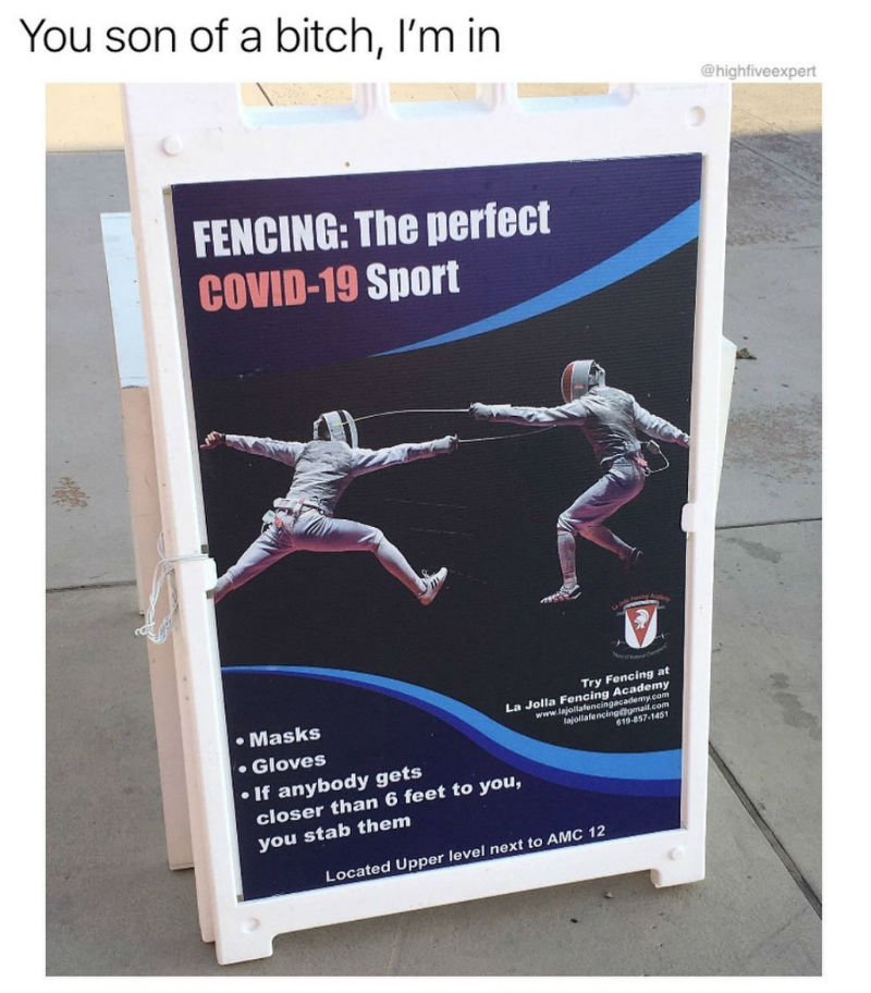 fencing is the perfect covid sport