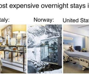 Most Expensive Overnight Stay In Italy Norway United States – Meme