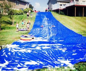 Backyard Blast Giant Water Slide – This jumbo water slide measures a whopping 75′ x 12′!