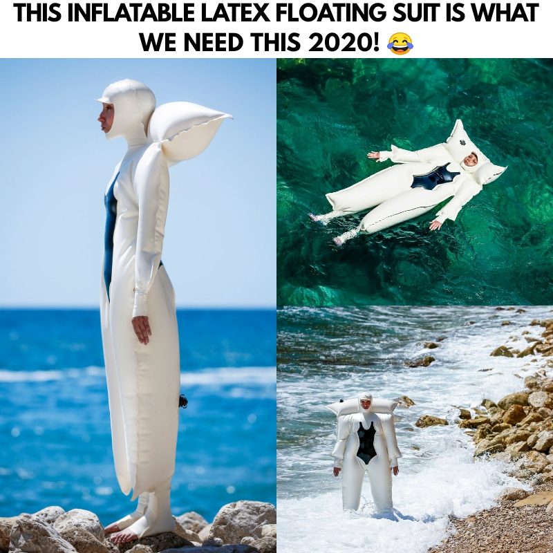 Inflatable Latex Floating Suit