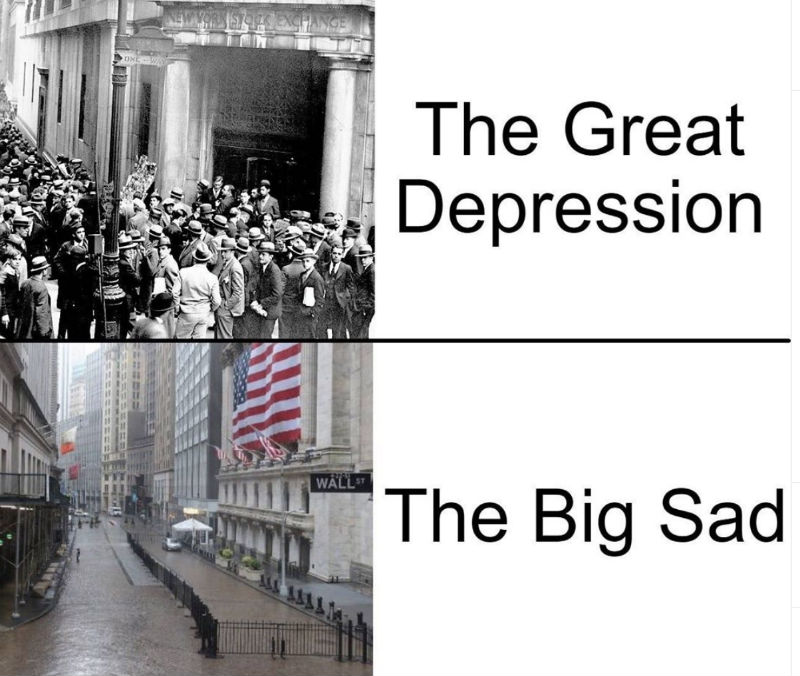 the great depression the big sad meme