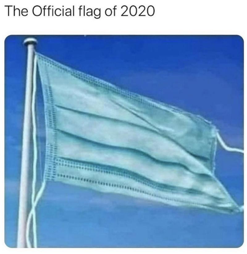 the official flag of 2020 meme