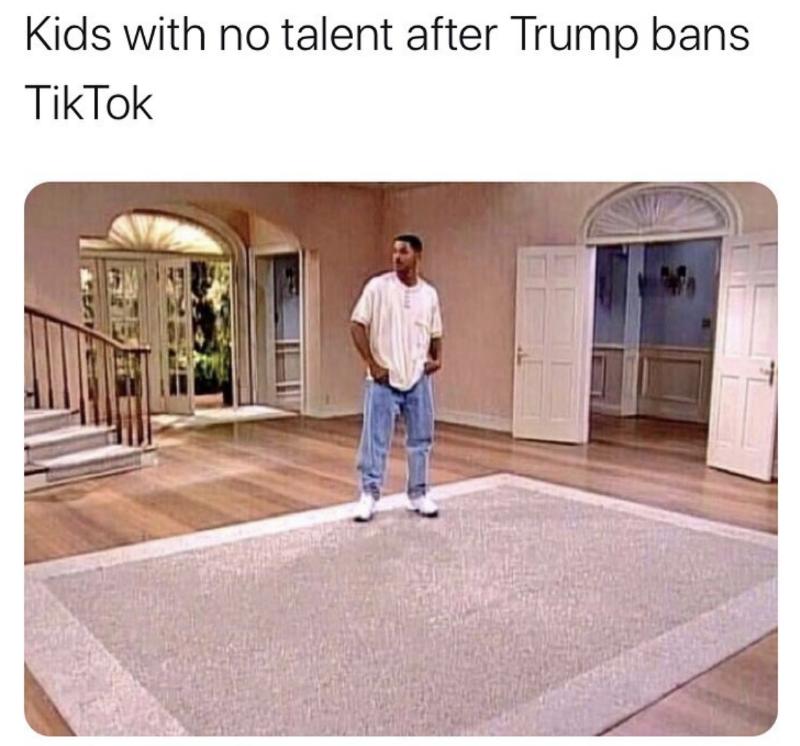 trump bans tiktok meme