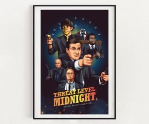 The Office Threat Level Midnight Inspired Poster – On your marks. Get set. DIE!