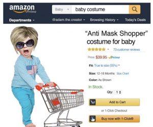 Anti Mask Shopper Costume For Baby – Meme