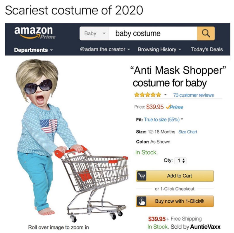 anti mask shopper for baby