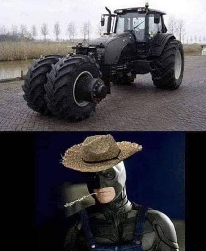 batmobile tractor meme