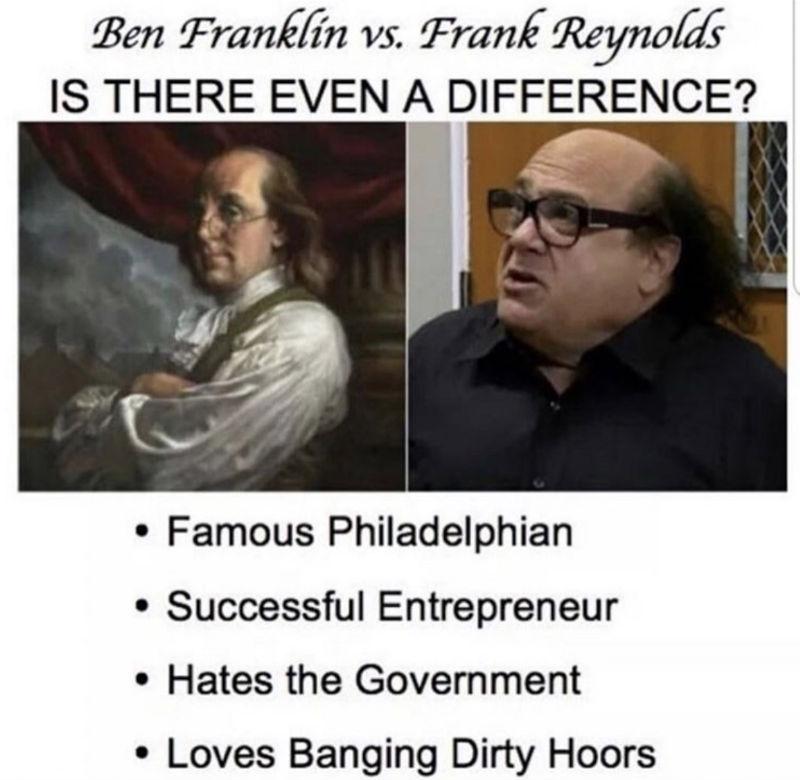 ben franklin vs frank reynolds meme