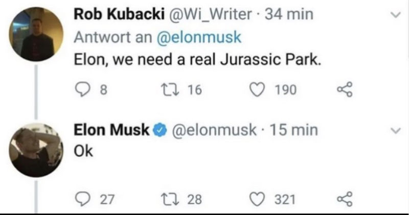 elon we need a real jurassic park