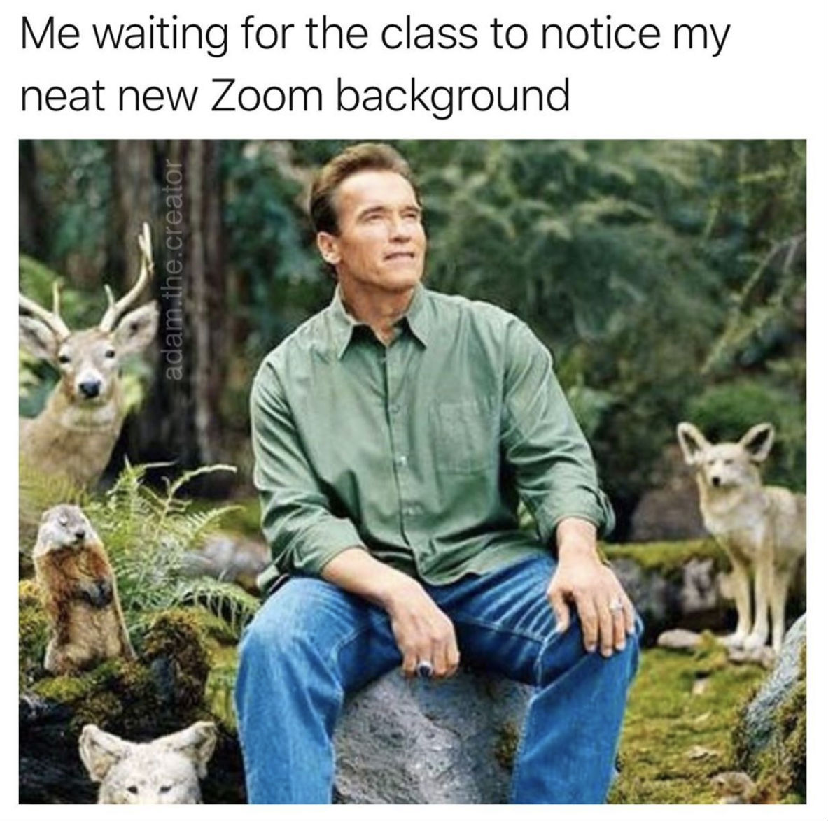 me waiting for the class