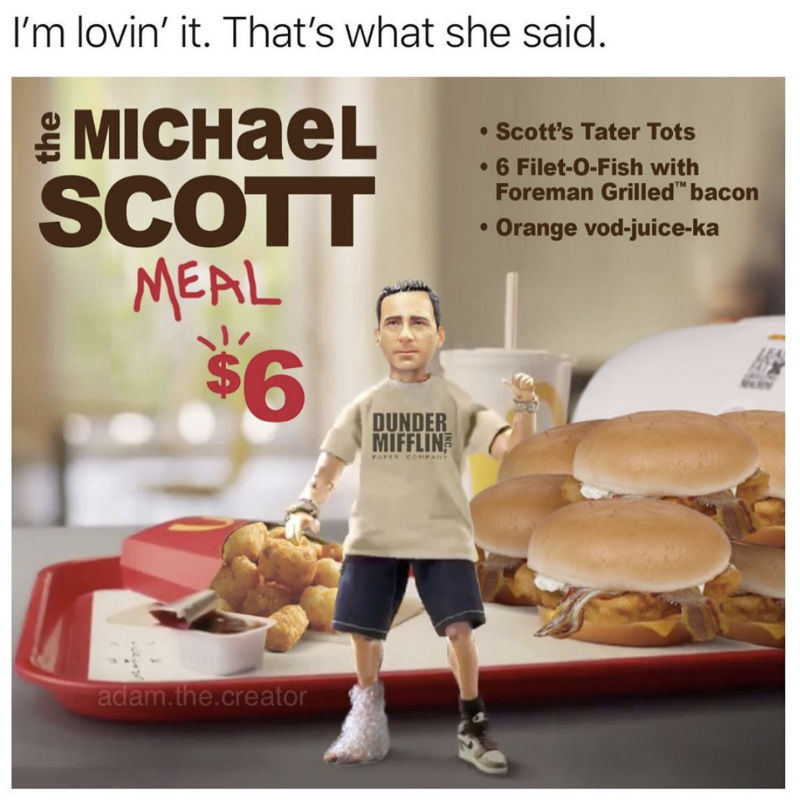 the michael scott meal
