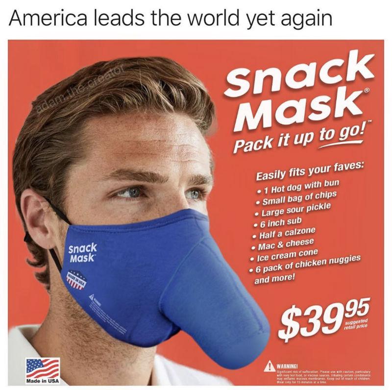 the snack mask meme
