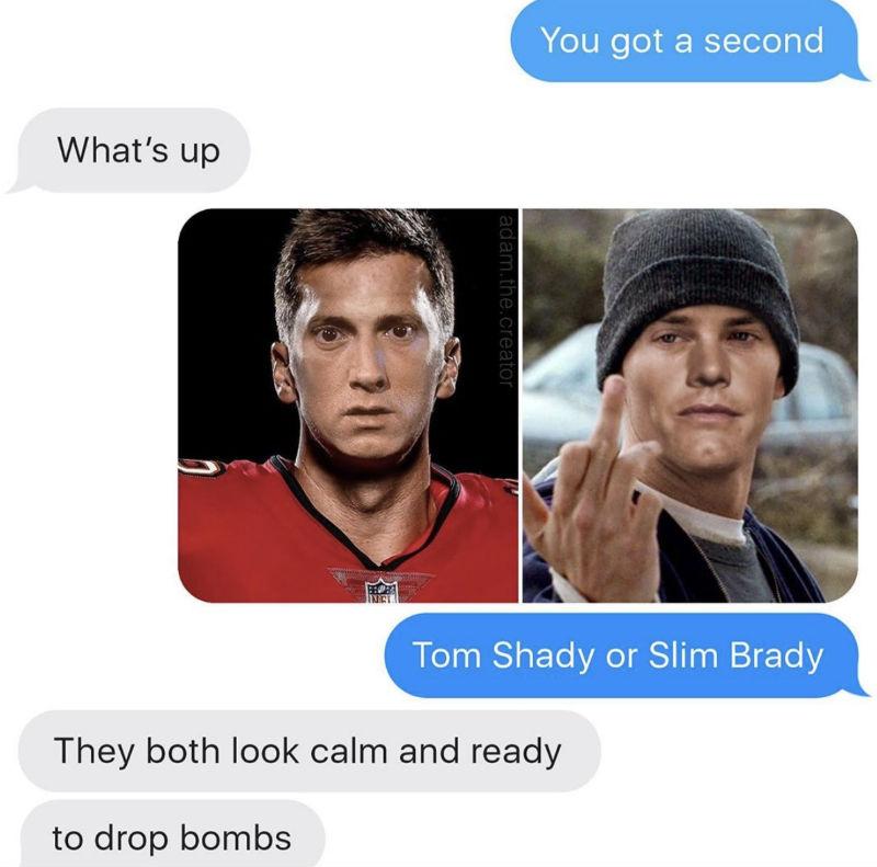 tom shady or slim brady meme